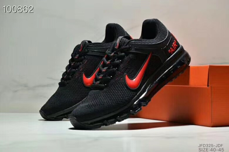 Nike Air Max 360 Flyknit Black Red Shoes