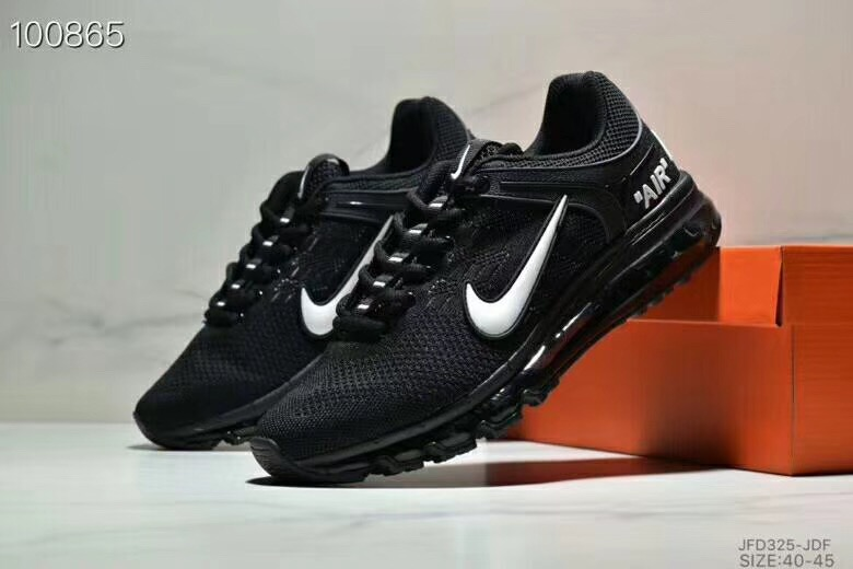 Nike Air Max 360 Flyknit Black White Shoes