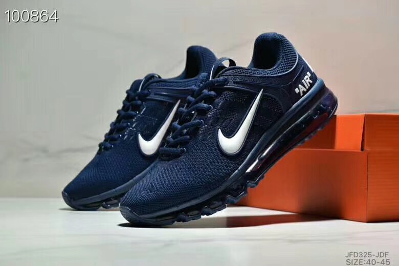 Nike Air Max 360 Flyknit Deep Blue Silver Shoes