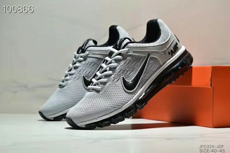 Nike Air Max 360 Flyknit Grey Black Shoes