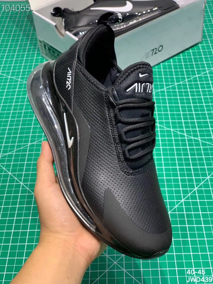 Nike Air Max 720 Leather All Black Shoes
