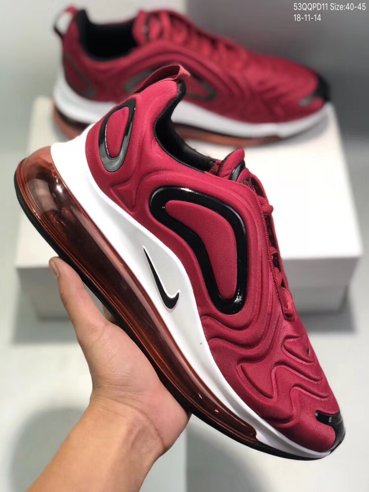 Nike Air Max 720 Wine Red Black White Shoes