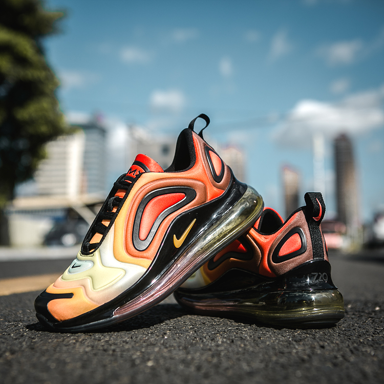Nike Air Max 720 Yellow Orange Black Shoes