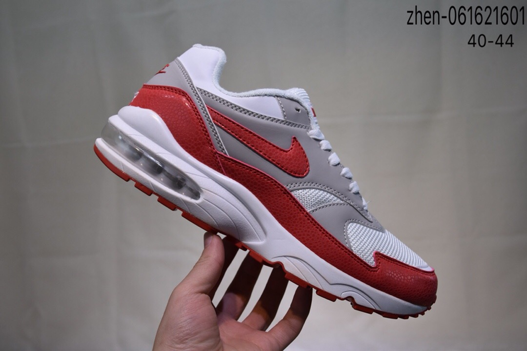 Real Nike Air Max 93 White Grey Red