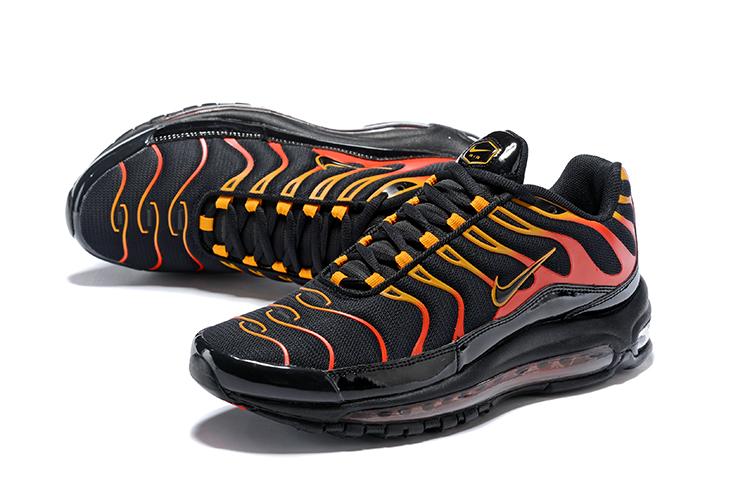 cheap for discount 38b7c 7a84d Nike Air Max 97 Plus Black Yellow Orange Shoes [19ajs32708 ...