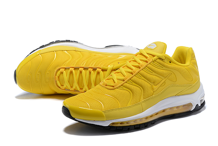 Nike Air Max 97 Plus Yellow White Shoes