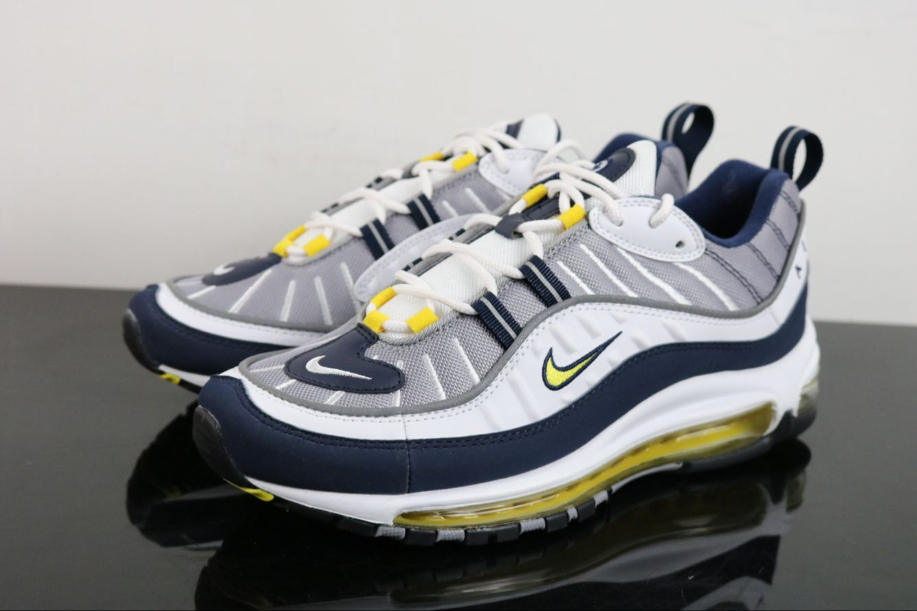 Nike Air Max 98 Grey Black Yellow Shoes