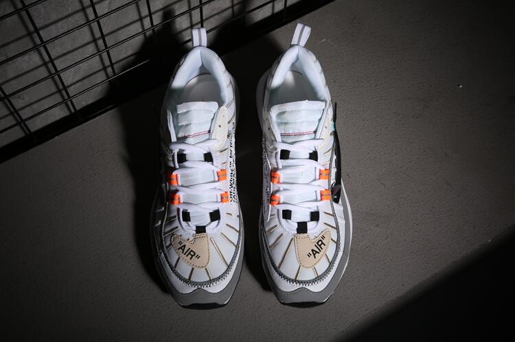 Nike Air Max 98 White Grey Orange Shoes