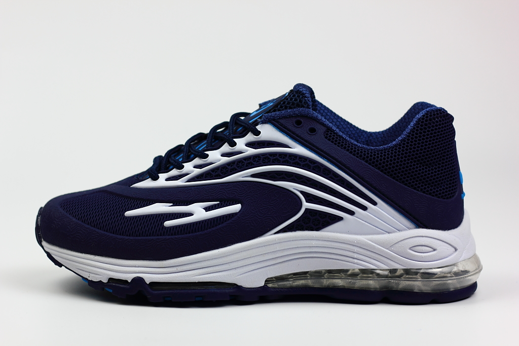New Nike Air Max 99 Deep Blue White Shoes