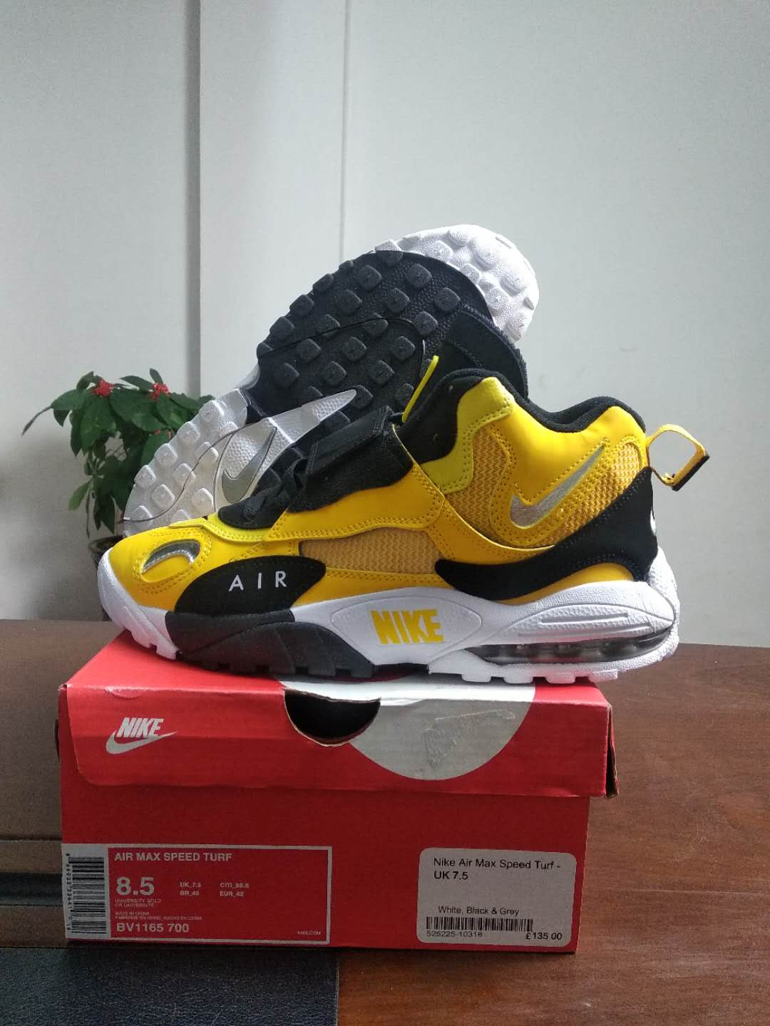 2019 New Nike Air Max Speed Truf Yellow Black White