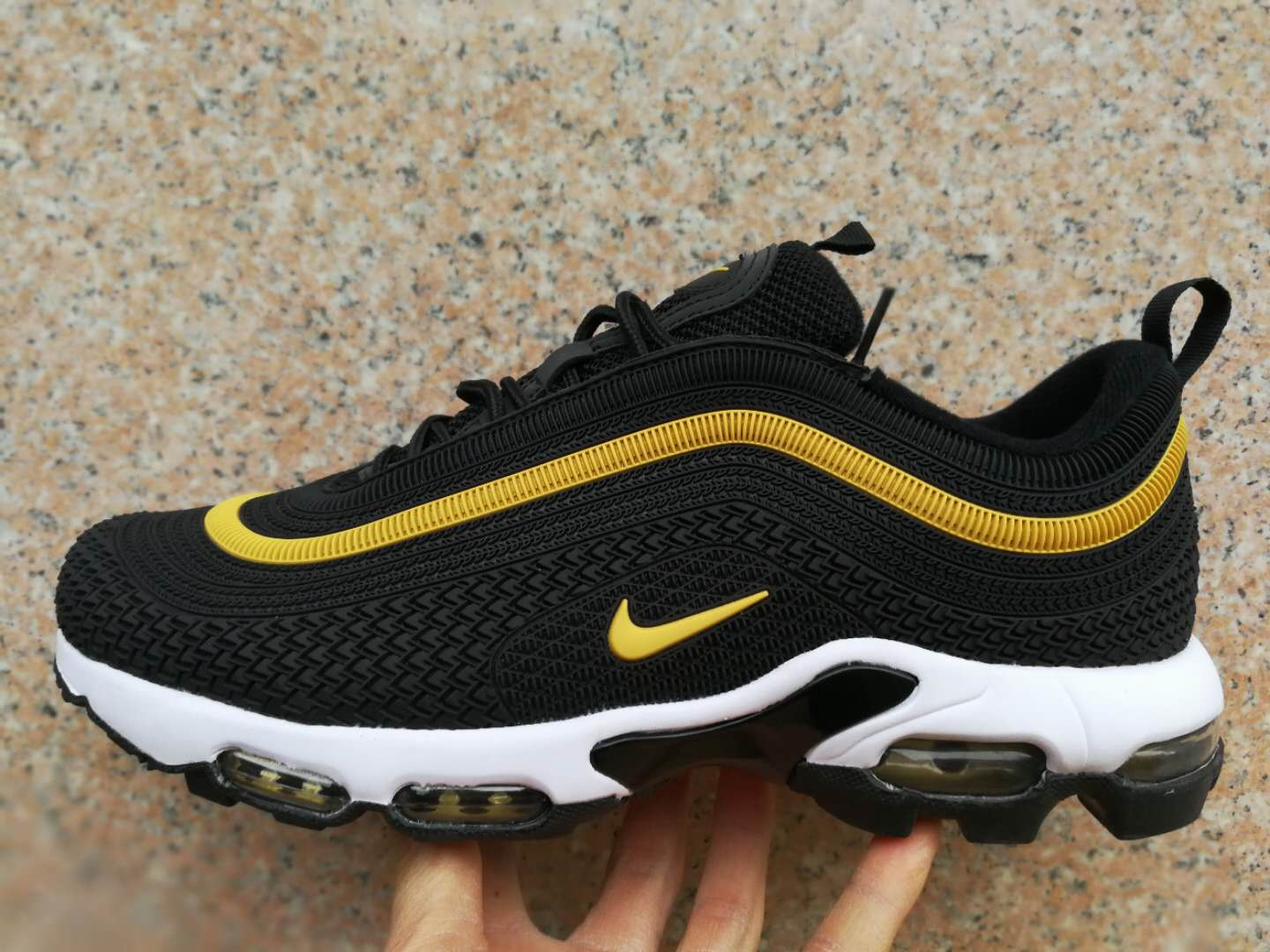Nike Air Max TN 97 Plastic Black Gold Shoes