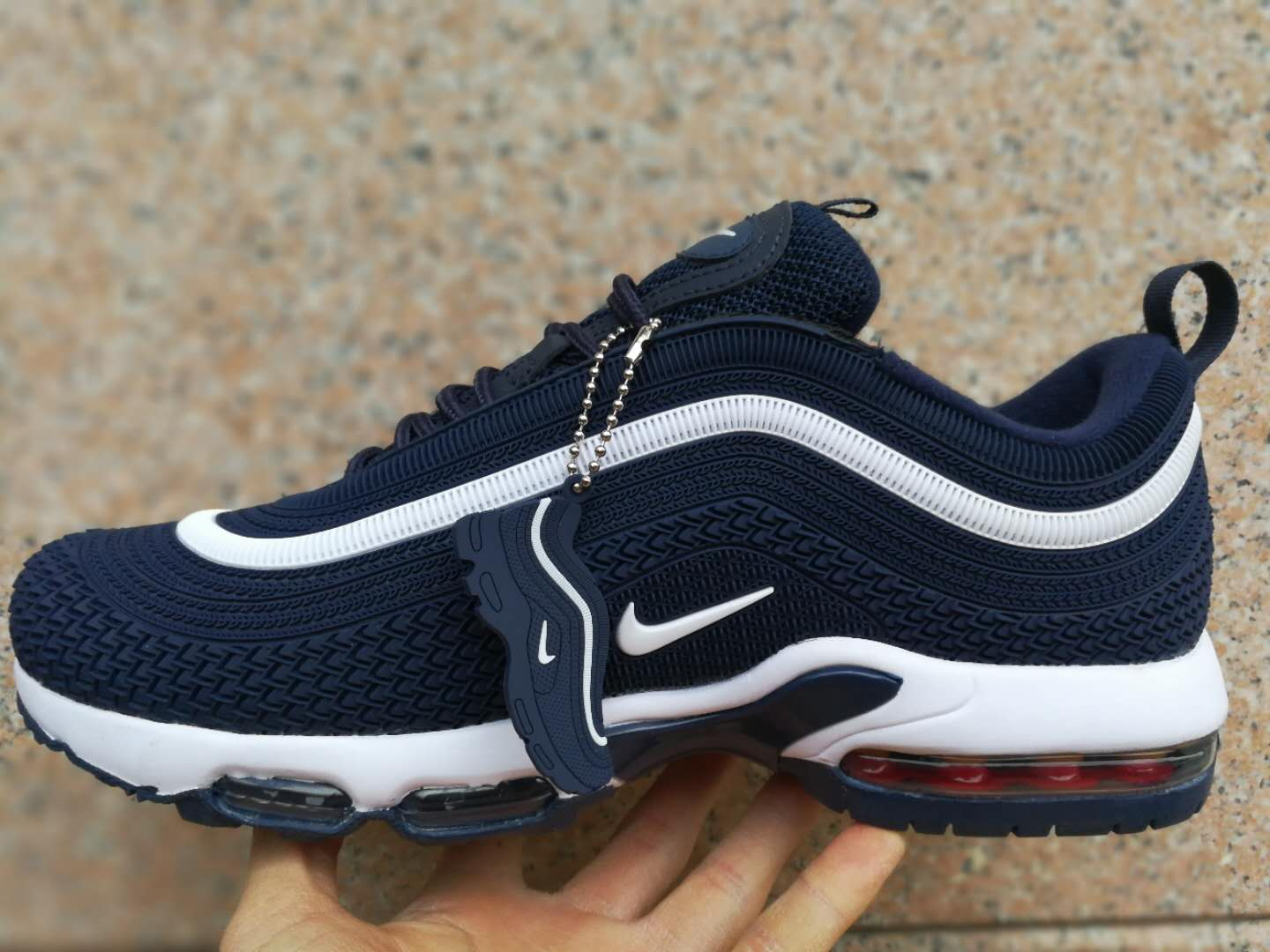 Nike Air Max TN 97 Plastic Deep Blue White Shoes