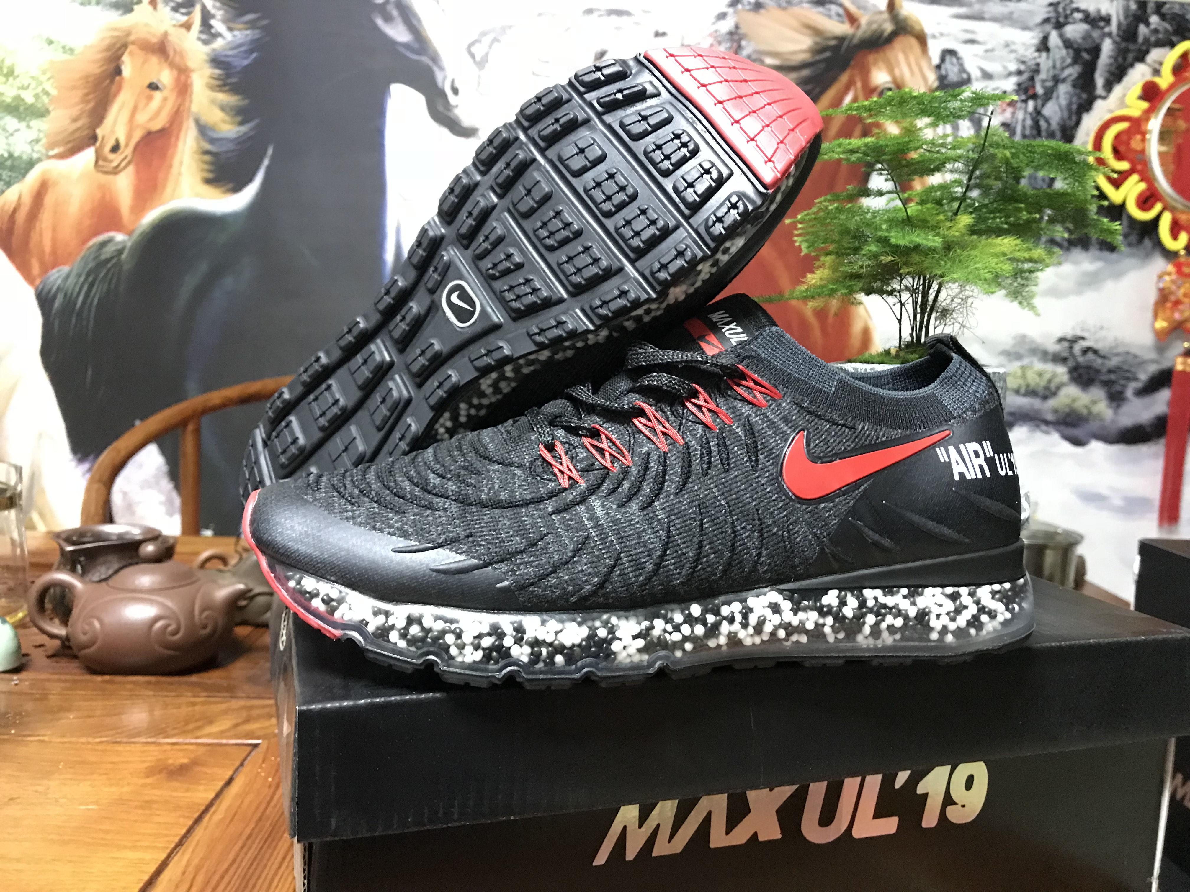 Nike Air Max UL' 19 Black Red Shoes