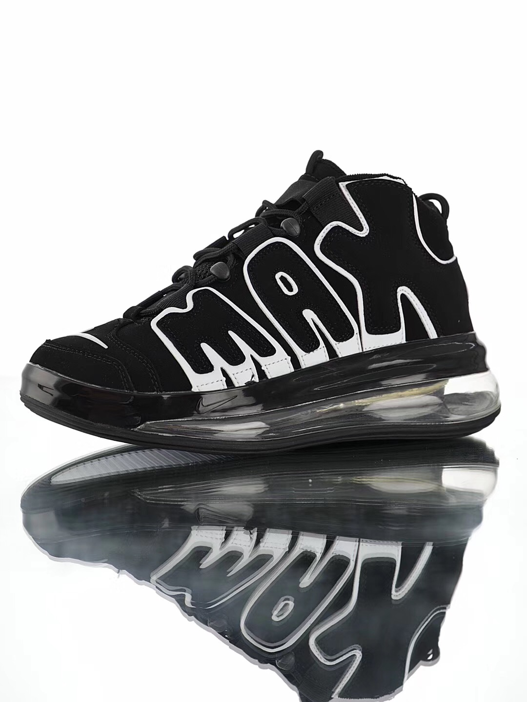 Cheap Real Nike Air More Uptempo 720 QS9 Black White