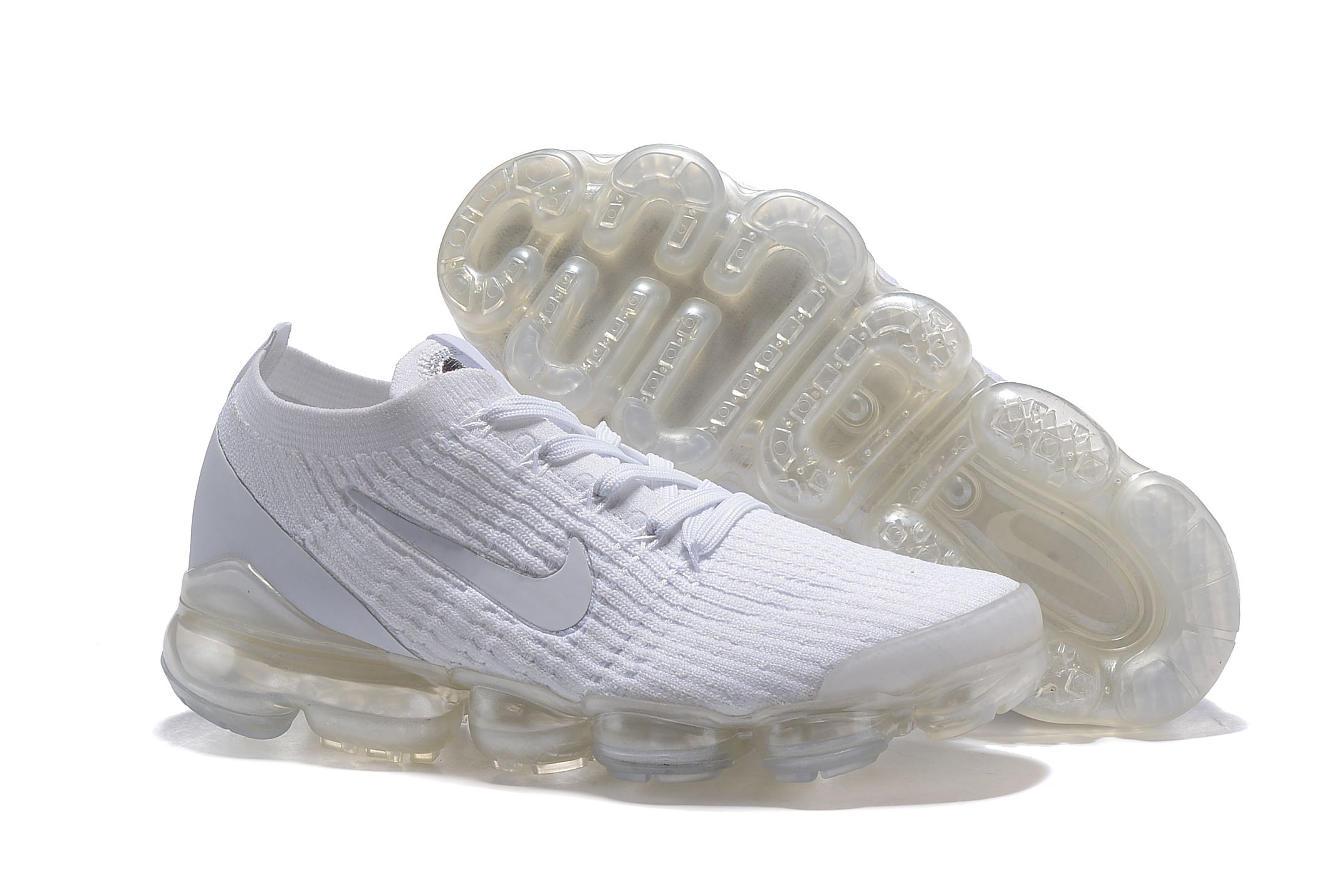 Nike Air VaporMax 2019 Flyknit All White Shoes