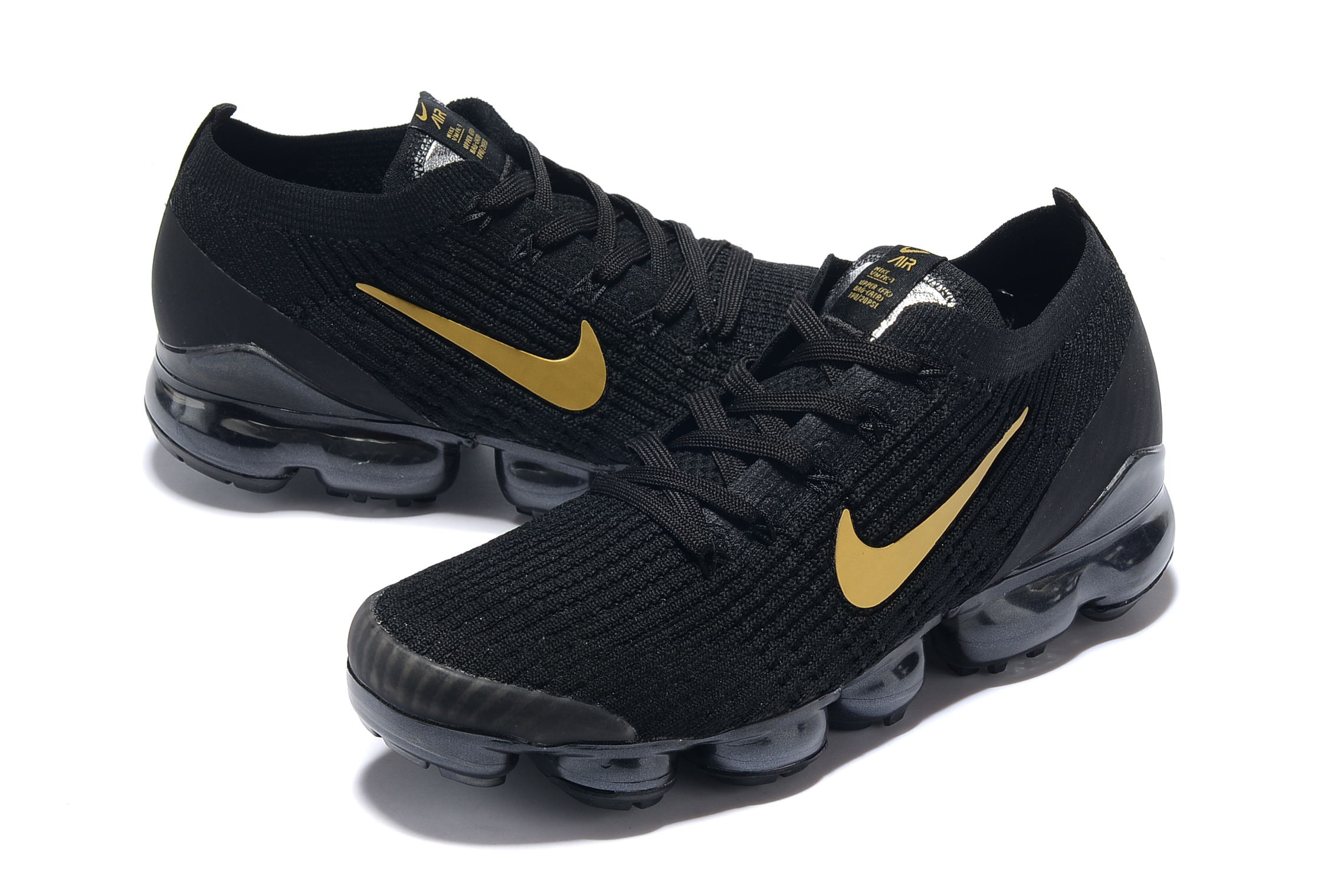 Nike Air VaporMax 2019 Flyknit Black Gold Shoes