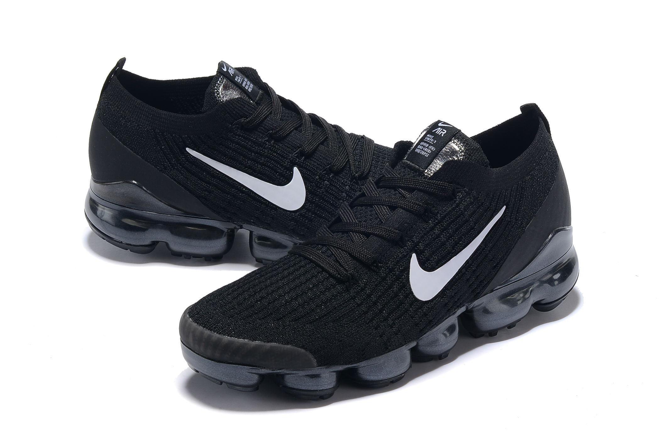 Nike Air VaporMax 2019 Flyknit Black White Shoes
