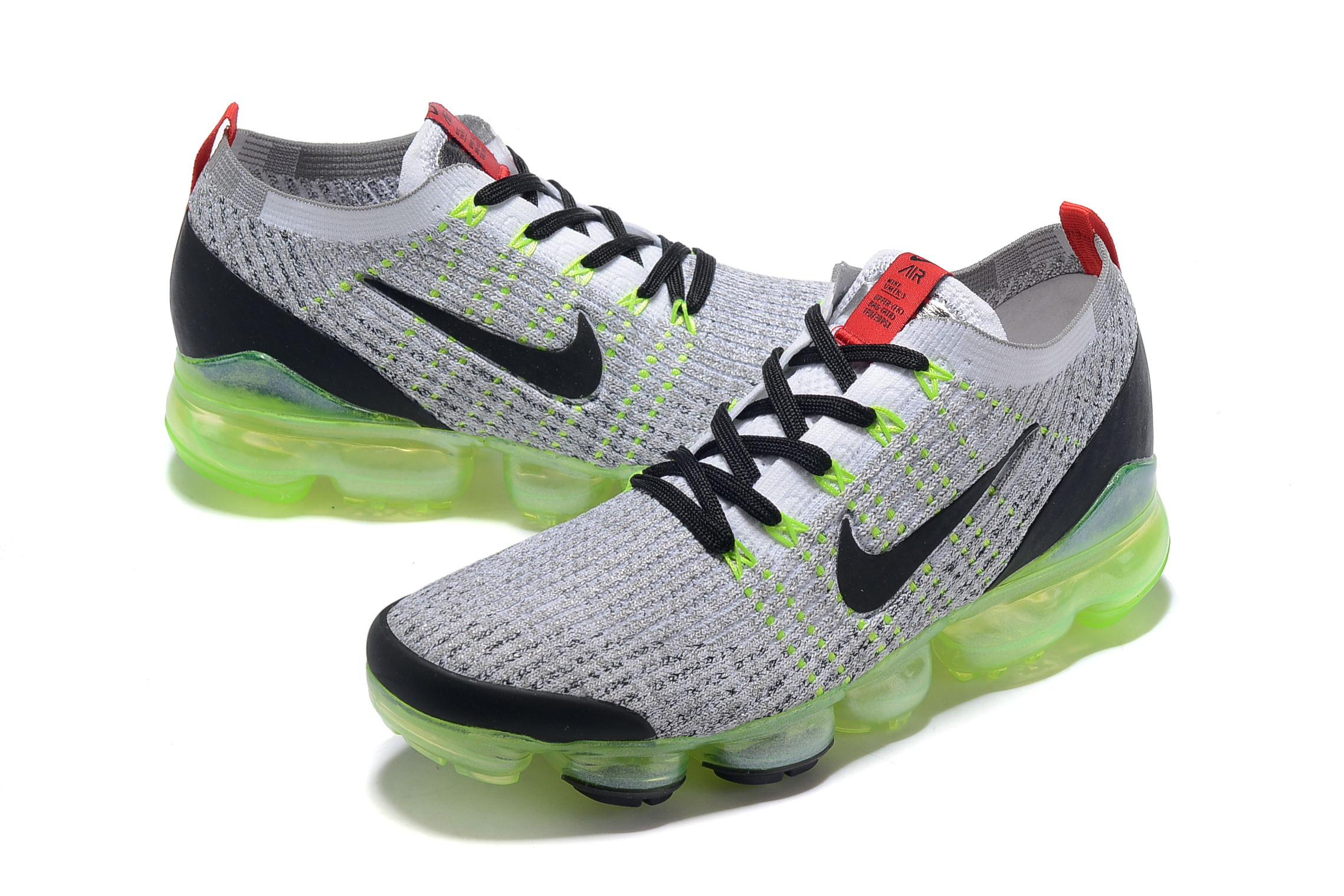 Nike Air VaporMax 2019 Flyknit Grey Green Black Shoes