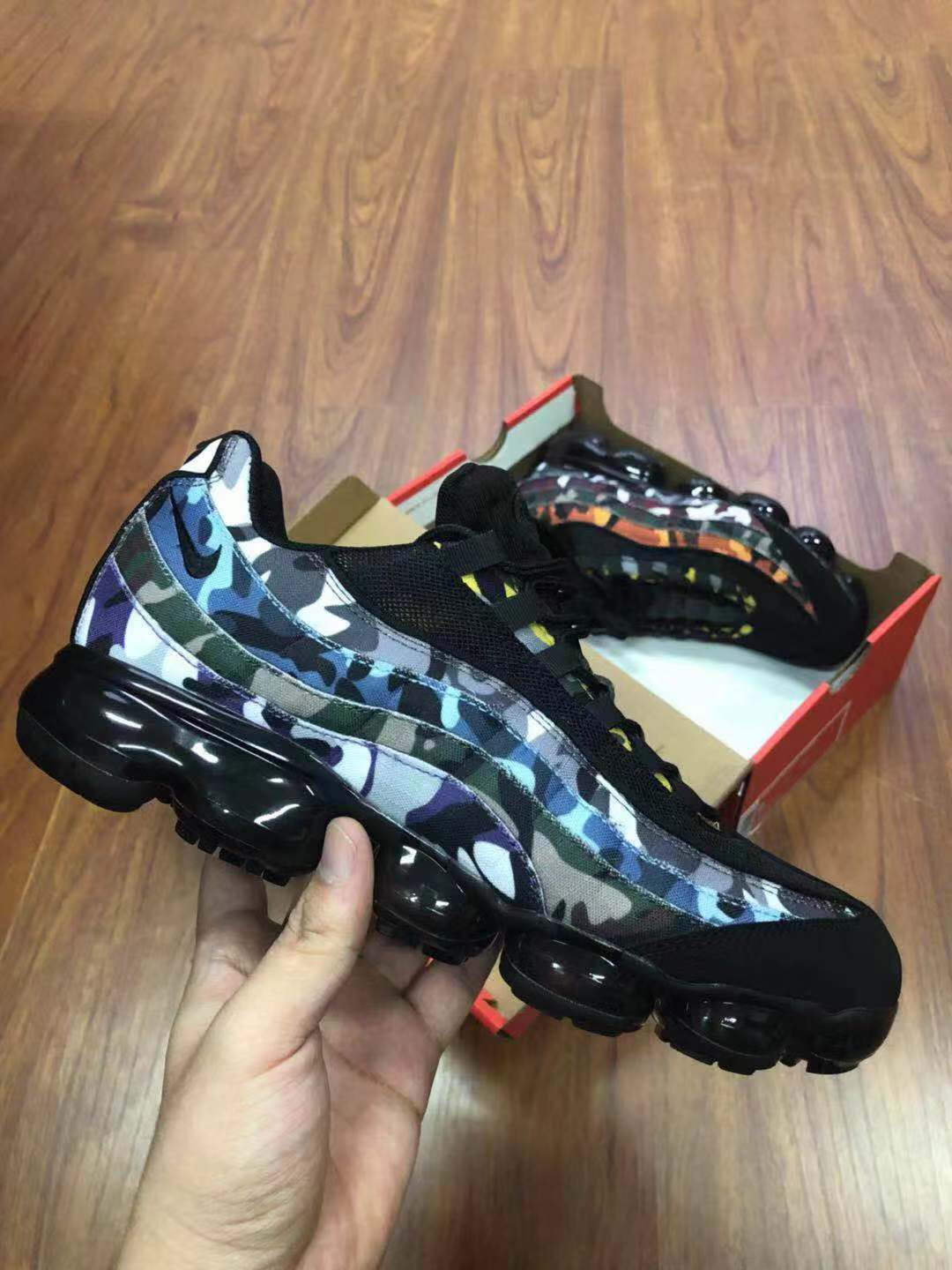 Real Nike Air VaporMax 95 Black Blue