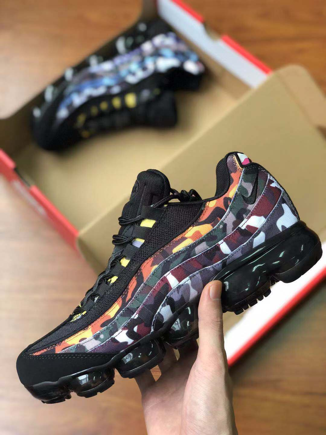 Real Nike Air VaporMax 95 Black Orange