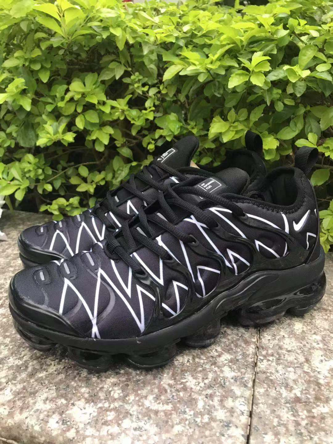 Nike Air Vapormax Plus 2018 TN Black White Line Lover Shoes