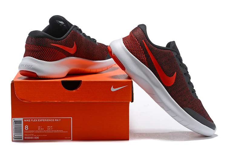 2019 Nike Flex Experience RN7 Black Red White Shoes