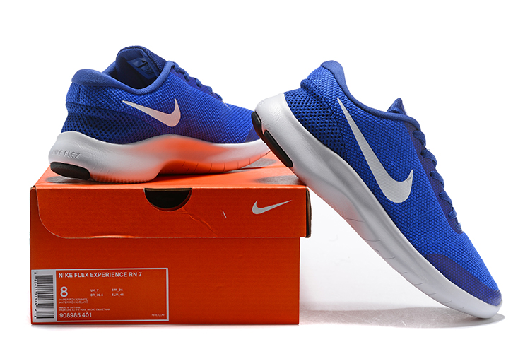 2019 Nike Flex Experience RN7 Blue White Shoes