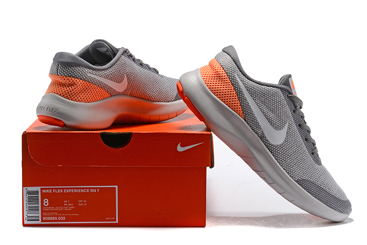 2019 Nike Flex Experience RN7 Grey Orange Shoes