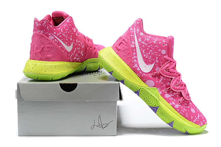 2019 Real Nike Kyrie 5 Pink Fluorscent Green White