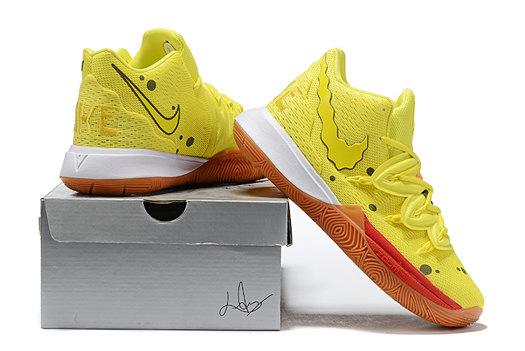 2019 Real Nike Kyrie 5 Yellow Red Brown