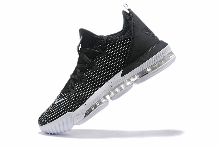 2019 Nike LeBron 16 Low Black Grey White Basketball Shoes