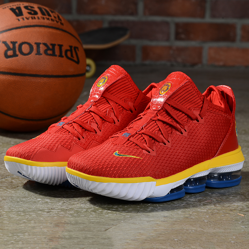 2019 Real Nike LeBron 16 Low Red Yellow White