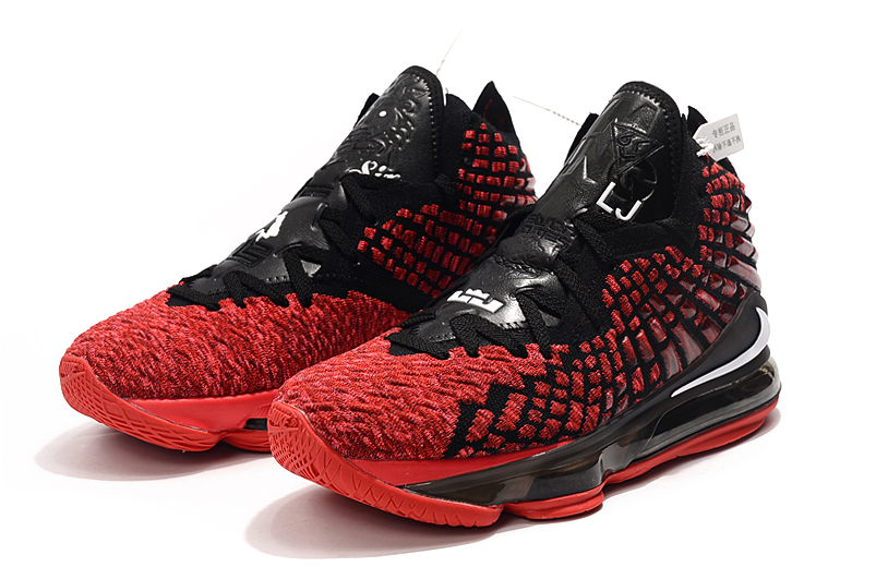 2019 Nike LeBron 17 Black Red For Women