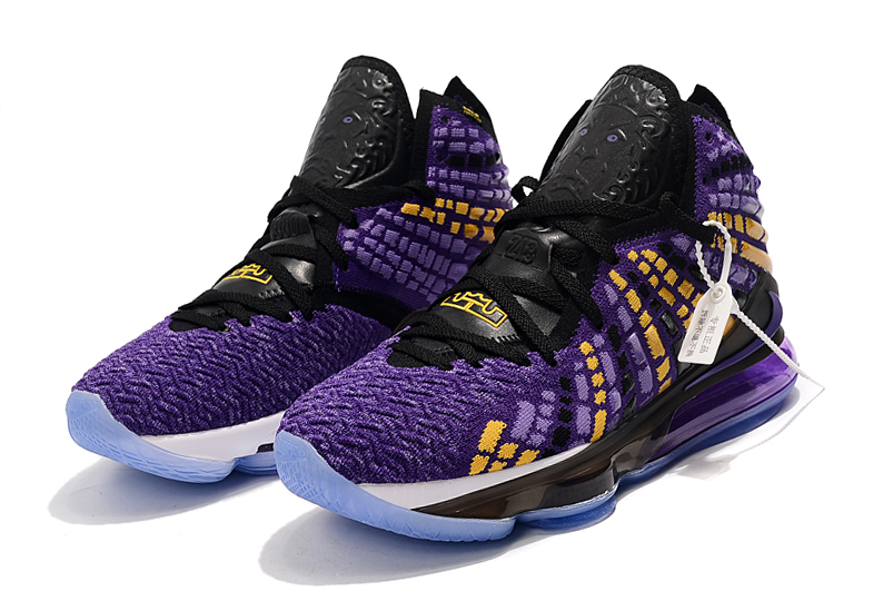 2019 Nike LeBron 17 Purple Yellow Black For Women