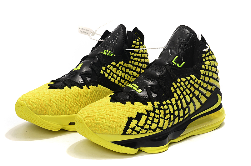 2019 Nike LeBron 17 Yellow Black For Women