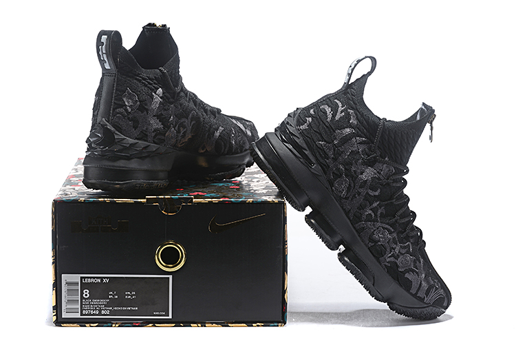 2019 Real Nike Lebron 15 Low Flor Black