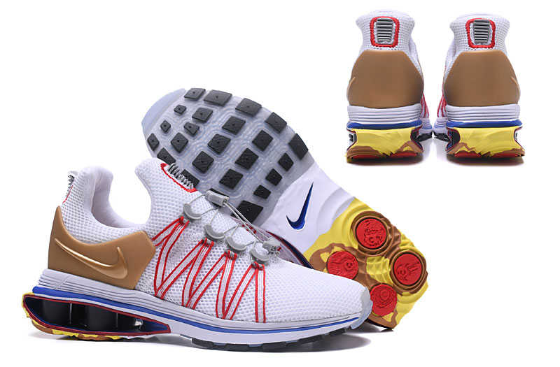 Nike Shox 908 Grey White Gold Red