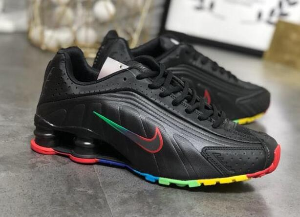Nike Shox R4 Black Rainbow Colorful