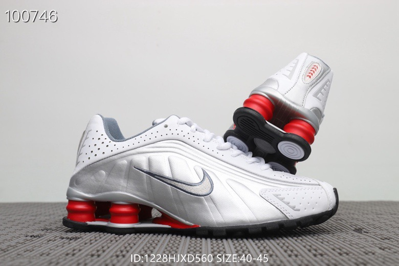 Nike Shox R4 White Grey Red