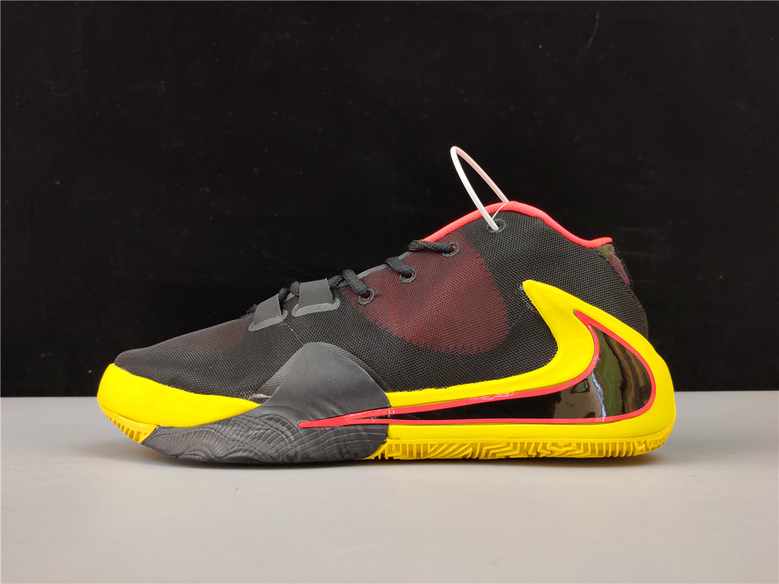 New Real Nike Zoom Freak 1 Black Red Yellow
