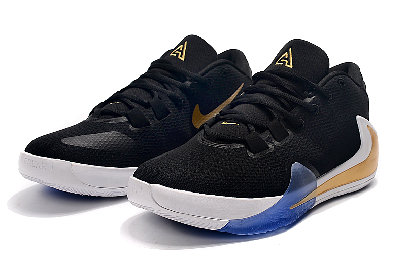 2019 Nike Zoom Freak 1 Black White Gold Blue
