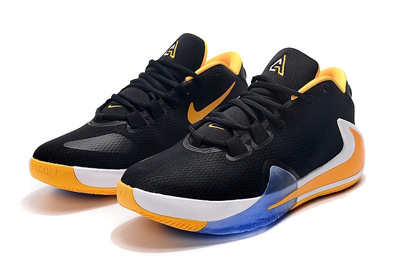 2019 Nike Zoom Freak 1 Black Yellow White Blue