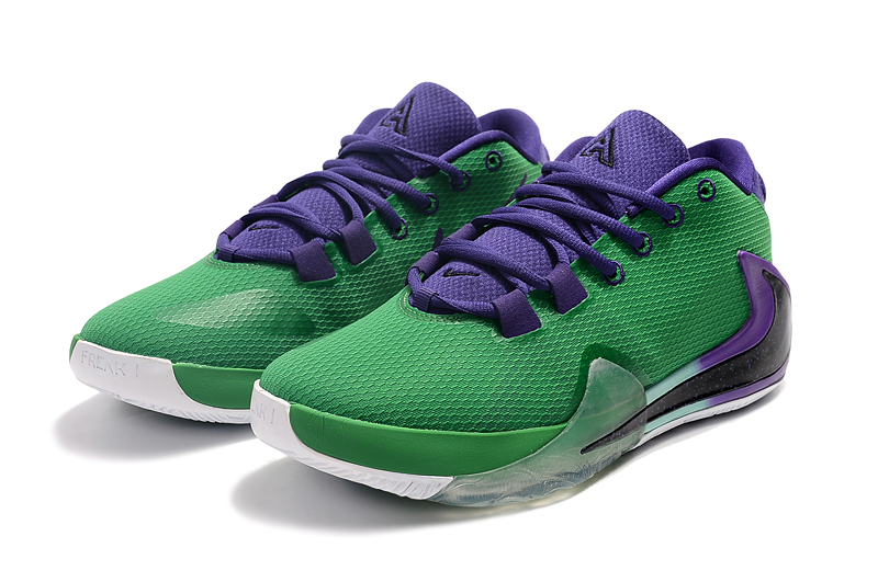 2019 Nike Zoom Freak 1 Green Purple Black Basketball Shoes