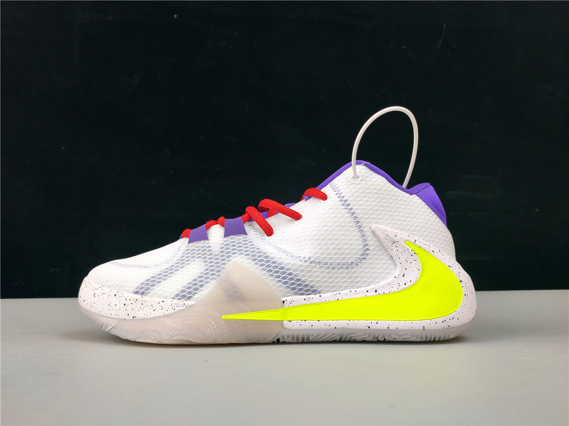New Nike Zoom Freak 1 White Purple Yellow