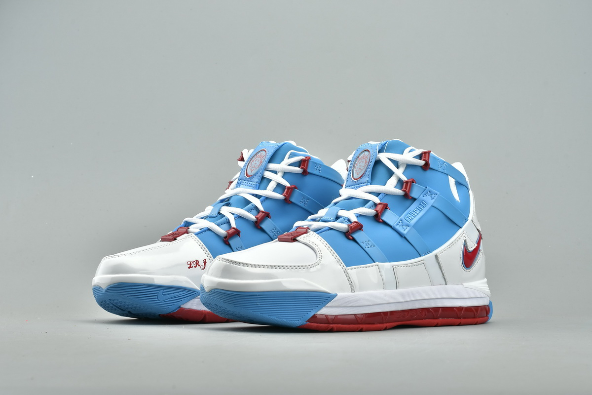 New Release Nike Zoom Lebron 3 Houston White Blue Red