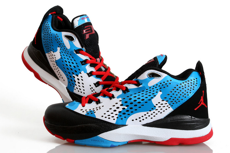 Nike Jordan CP3 7Black White Blue Red Shoes