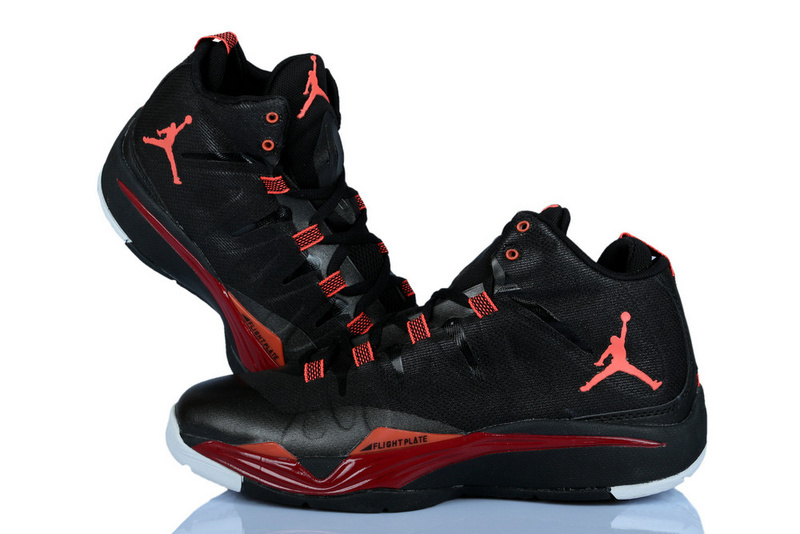 Nike Jordan Griffin Supper Fly 2 Black Red Basketball Shoes