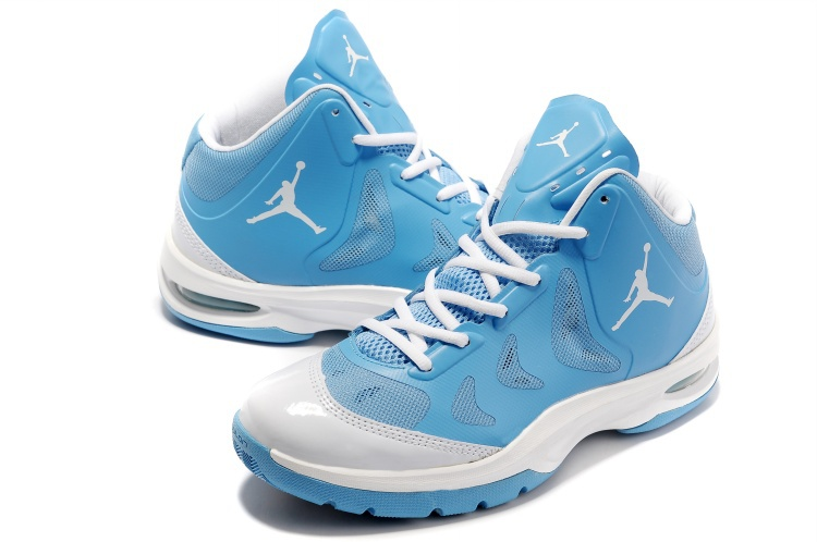 Nike Jordan Play In These Light Blue White Basketball Shoes
