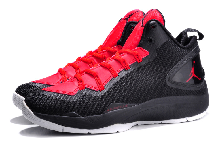 Nike Jordan Super Fly 2 PO Black Red White Basketball Shoes