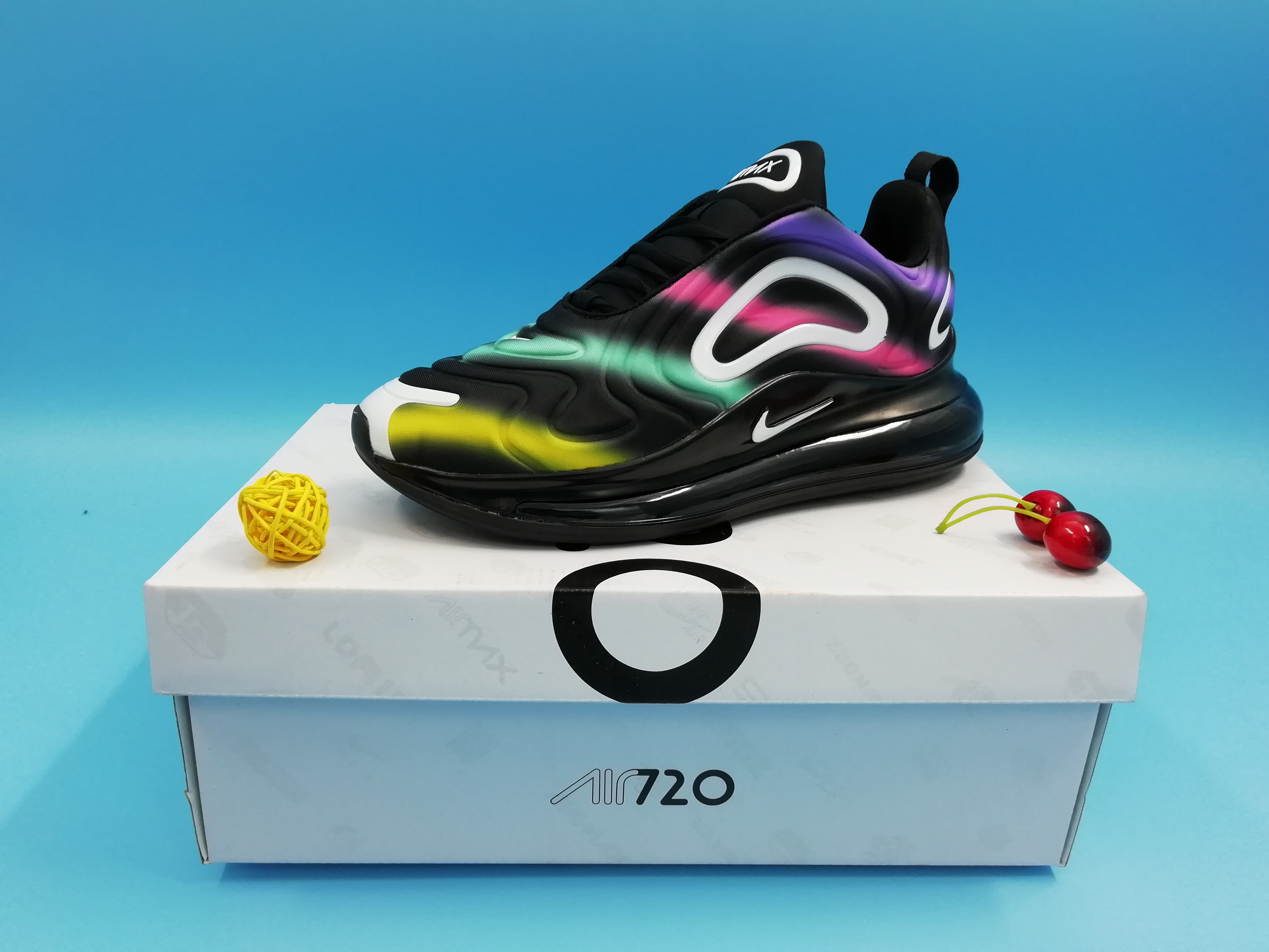 Real Nike Air Max 720 Black Green Jade Red